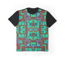 OVERLAP RED SQUARES Graphic T-Shirt
