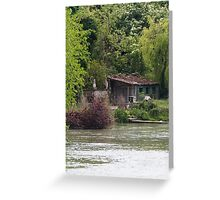 river and waterfall Greeting Card