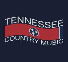 Tennessee Flag Country Music (wave) Kids Tee