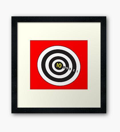 Target game for duvet fun! Framed Print