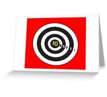 Target game for duvet fun! Greeting Card
