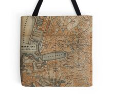 Vintage Map of Marseille France (1914) Tote Bag