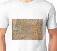Vintage Map of Marseille France (1914) Unisex T-Shirt