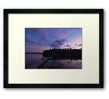 Maine Sunset Framed Print