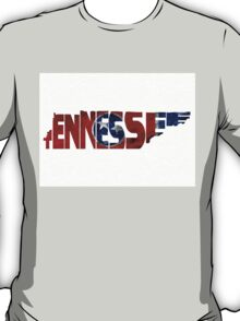 Tennessee Typographic Map Flag T-Shirt