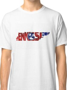 Tennessee Typographic Map Flag Classic T-Shirt