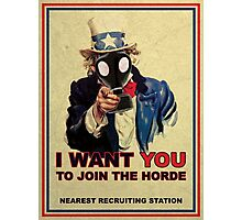 Join The Zombie Horde Photographic Print