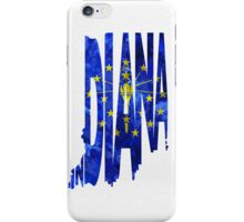 Indiana Typographic Map Flag iPhone Case/Skin