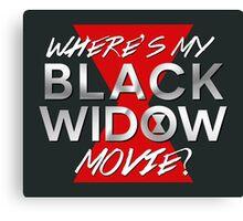 Black Widow Movie Canvas Print