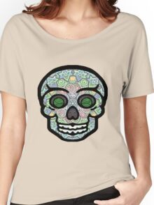 Psychedelic Sugar Skull - Grin Women's Relaxed Fit T-Shirt