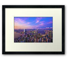 Hong Kong sunset Framed Print
