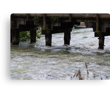 old bridge on river Canvas Print