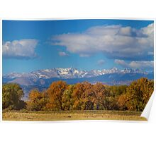 Rocky Mountain Front Range Colorful View Poster