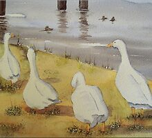 Geese at Buckler's Hard by FrancesArt