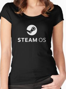 steamos steam debian linux console Women's Fitted Scoop T-Shirt