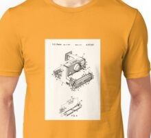 Retro Vintage Polaroid Film Camera Patent Drawing Unisex T-Shirt