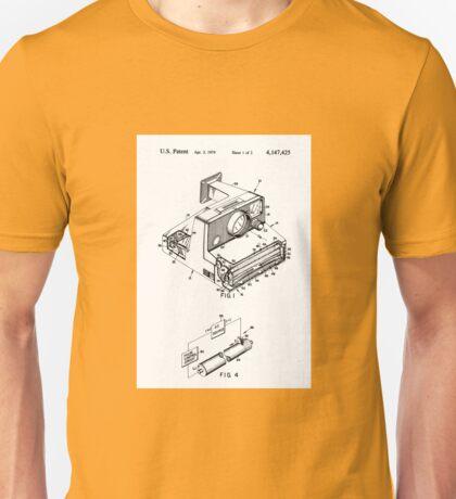 Retro Vintage Polaroid Film Camera Patent Drawing Unisex T-Shirt