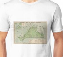 Vintage Map of Marthas Vineyard (1913) Unisex T-Shirt
