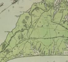 Vintage Map of Marthas Vineyard (1913) Sticker