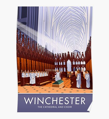 Winchester Cathedral and Choir Poster