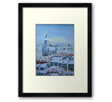 Snow in a French Village Framed Print