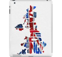 United Kingdom Typographic Kingdom iPad Case/Skin