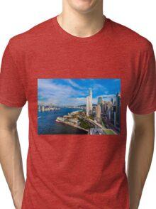 Hong Kong modern scene Tri-blend T-Shirt