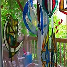 stained glass suncatchers by don quackenbush
