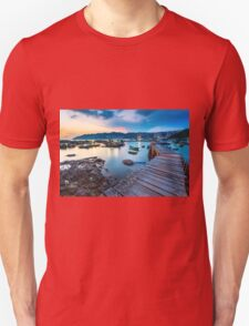 Sunset at wooden bridge T-Shirt