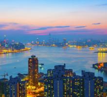 Hong Kong sunset Sticker