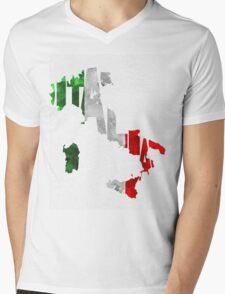 Italy Typographic Map Flag T-Shirt