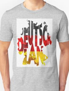 Germany Typographic Map Flag Unisex T-Shirt