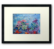 MARINE BOUQUET Framed Print