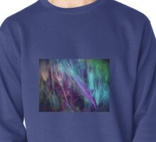 BLUE AND LILAC FEATHERY FERN  Pullover