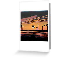 Florida, dawn, nature,abstract,painted,contemporary art Greeting Card