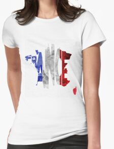 France Typographic Map Flag T-Shirt