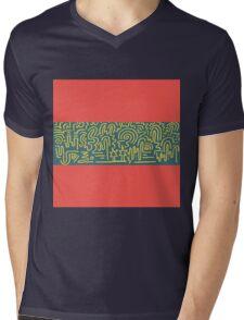 Clean Stripe (South Beach) Mens V-Neck T-Shirt