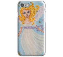 Christmas angel in the sky iPhone Case/Skin