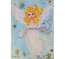 Christmas angel in the sky Photographic Print