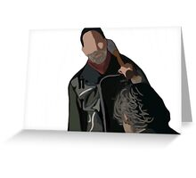 Negan The Walking Dead  Greeting Card