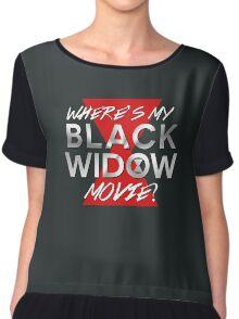 Black Widow Movie Chiffon Top