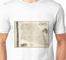 Vintage Map of Marthas Vineyard (1873) Unisex T-Shirt