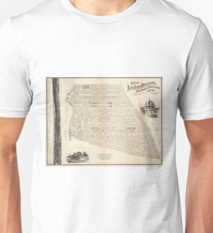 Vintage Map of Marthas Vineyard (1873) Unisex T-Shirt
