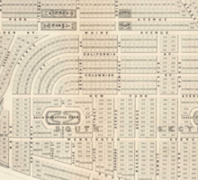 Vintage Map of Marthas Vineyard (1873) Sticker