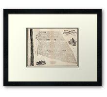 Vintage Map of Marthas Vineyard (1873) Framed Print