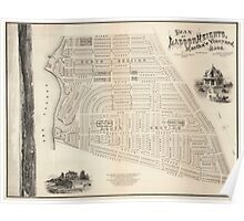 Vintage Map of Marthas Vineyard (1873) Poster
