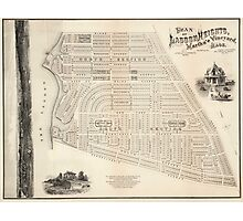 Vintage Map of Marthas Vineyard (1873) Photographic Print