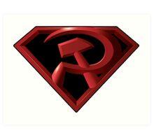 Superman - Red Son Logo Art Print