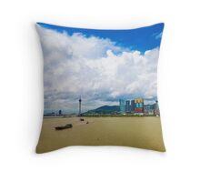 Macau cityscape Throw Pillow
