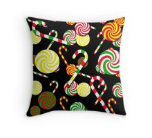 Xmas candy pattern Throw Pillow
